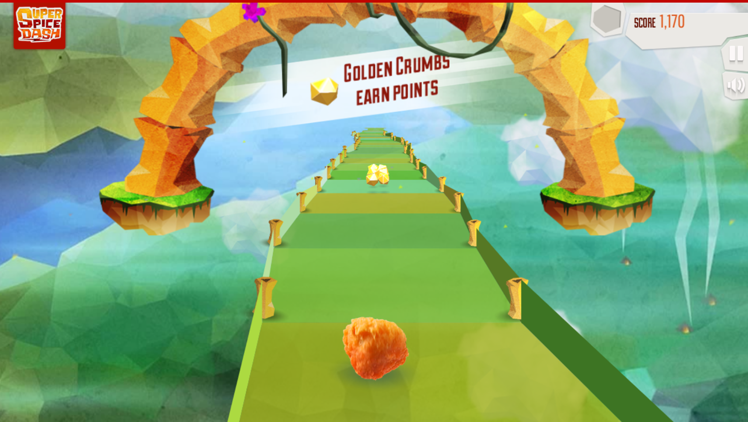 Super Spice Dash Game How To Earn Points Screenshot.