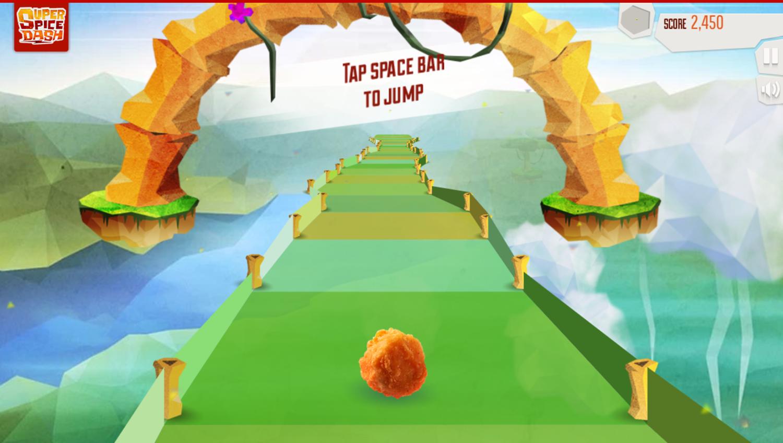 Super Spice Dash Game How To Jump Screenshot.