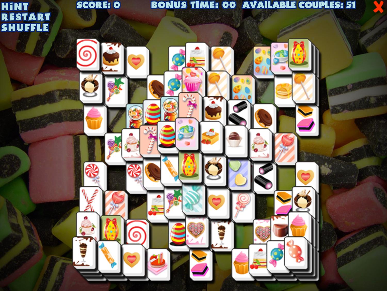 Sweety Mahjong Main Game Screen Screenshot. Screenshot.
