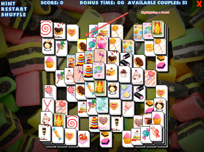 Sweety Mahjong Selecting Screen Screenshot. Screenshot.