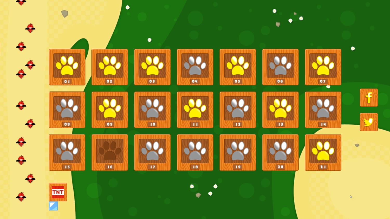 Swift Cats Level Select Screenshot.