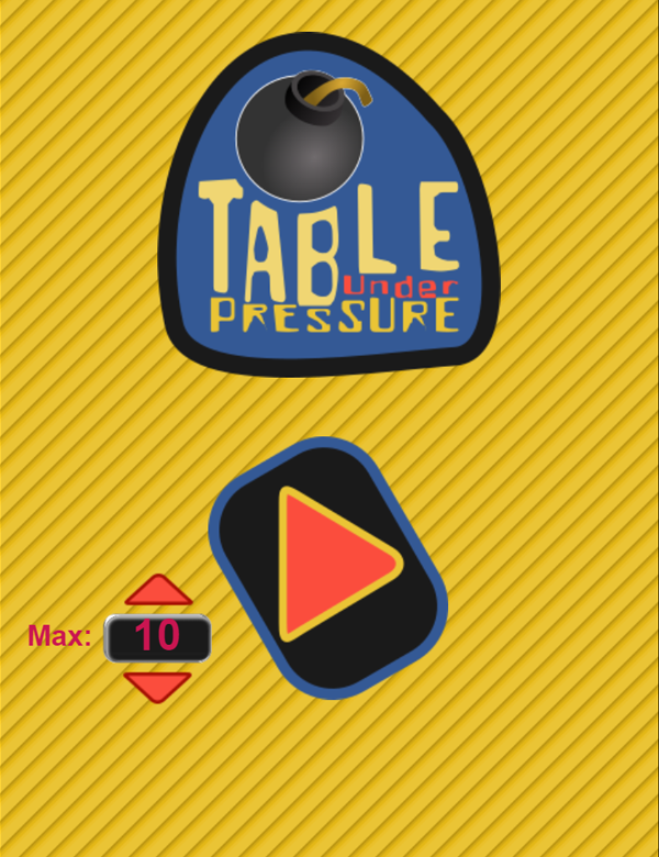 Table Under Pressure Welcome Screen Screenshots.