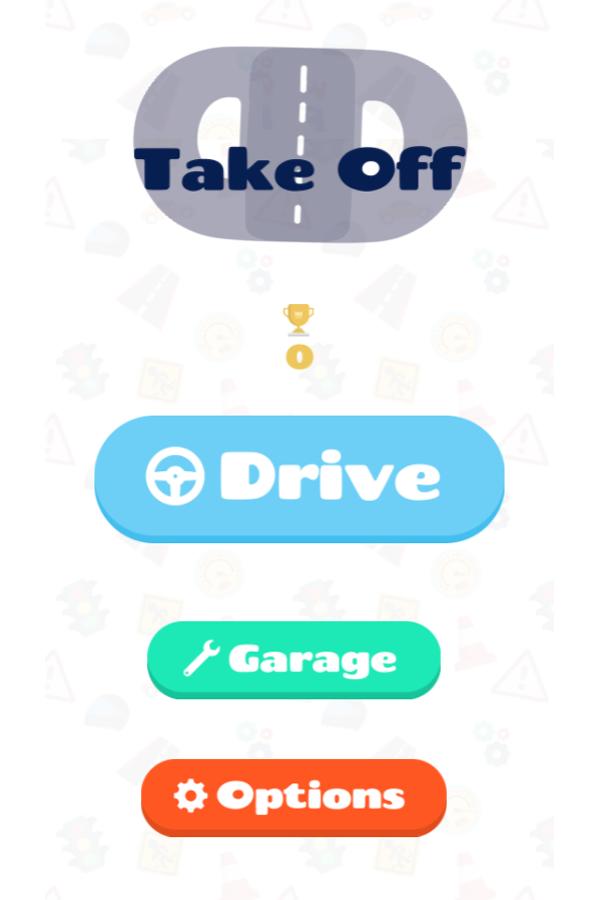 Take Off Game Welcome Screenshot.