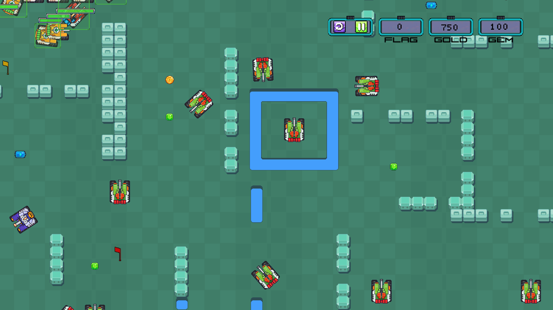 Tank Battle Ground Game Screenshot.