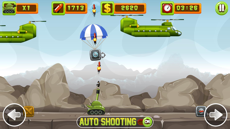 Tank Defender Game Screenshot.