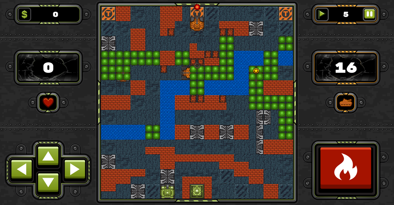 Tank Wars Game Screenshot.