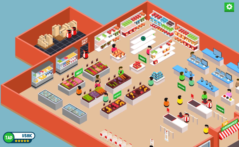 Tap Supermarket Gameplay Screenshot.
