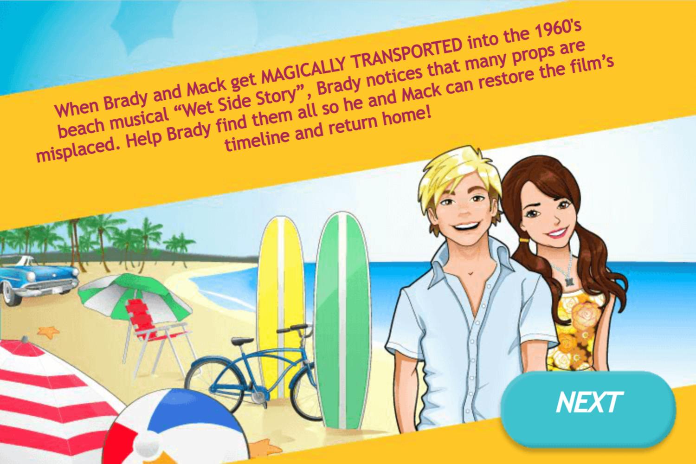 Teen Beach Movie Brady's Beach Scramble Game Goal Screenshot.