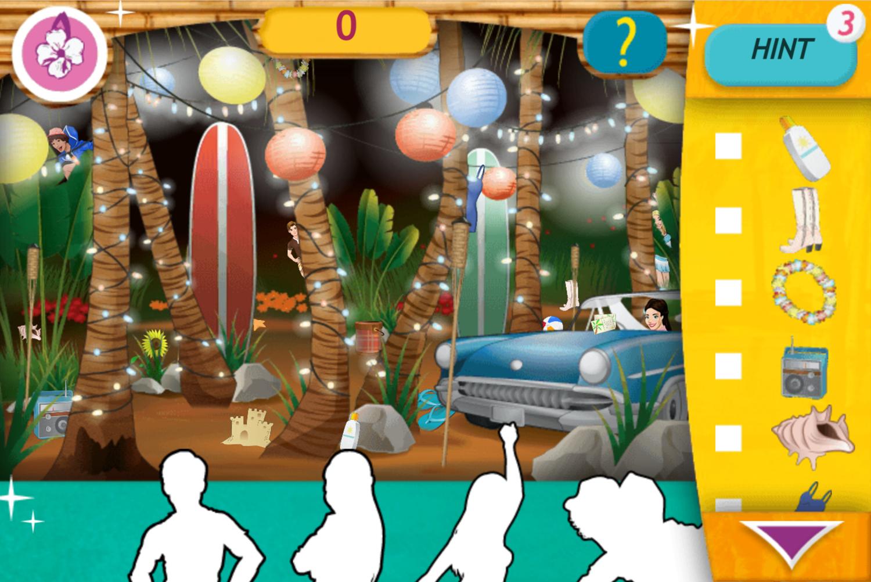 Teen Beach Movie Brady's Beach Scramble Game Screenshot.