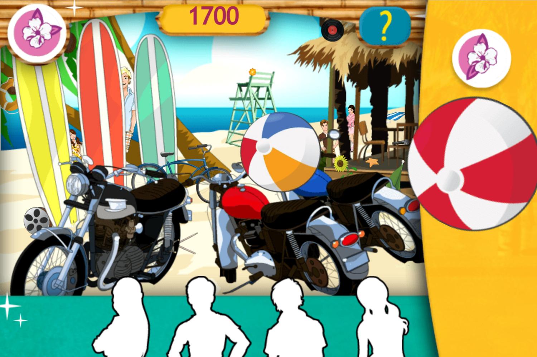 Teen Beach Movie Brady's Beach Scramble Game Playing Bonus Round Screenshot.