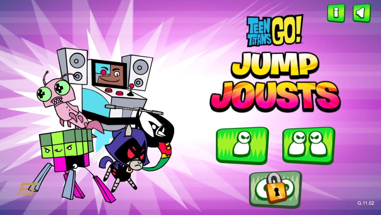 Teen Titans Go Jump Jousts Player Select Screen Screenshot.