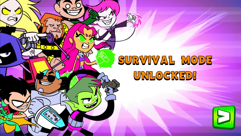Teen Titans Go Jump Jousts Survival Mode Unlocked Screenshot.