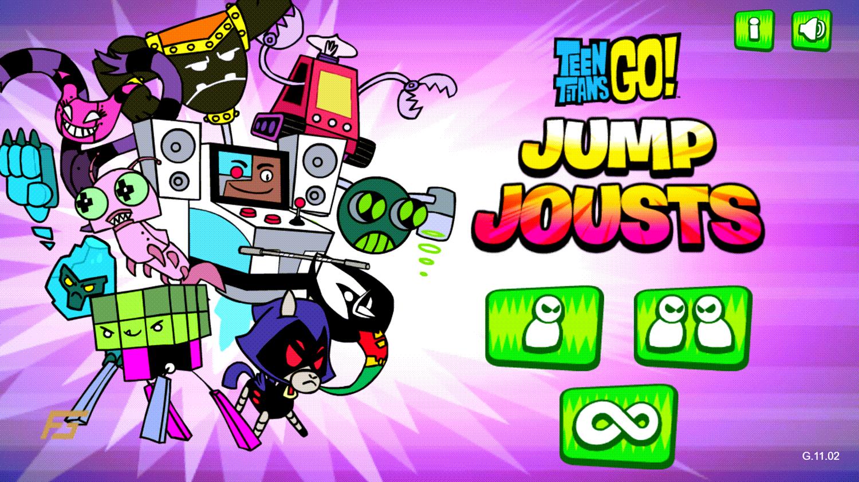 Teen Titans Go Jump Jousts Welcome Screen Screenshot.