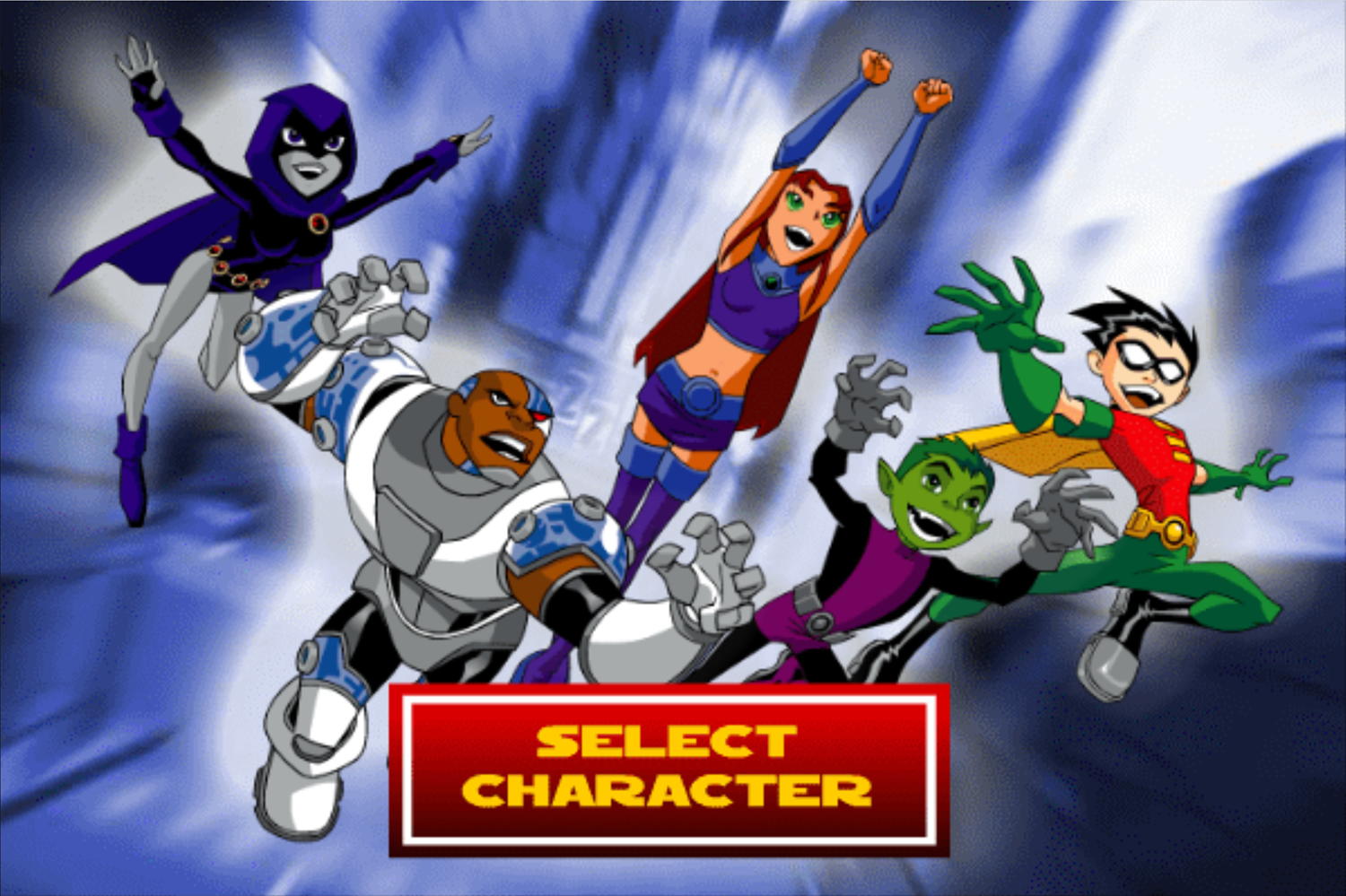 Teen Titans Go One on One Character Select Screenshot.