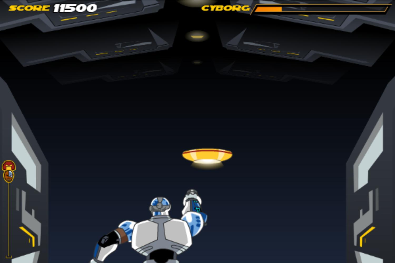 Teen Titans Go One on One Cyborg Boss Battle Screenshot.