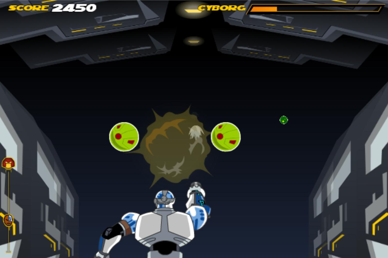 Teen Titans Go One on One Cyborg Game Screenshot.