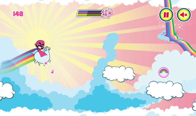 Teen Titans Go Ravens Rainbow Dreams In Game Screen Screenshot.