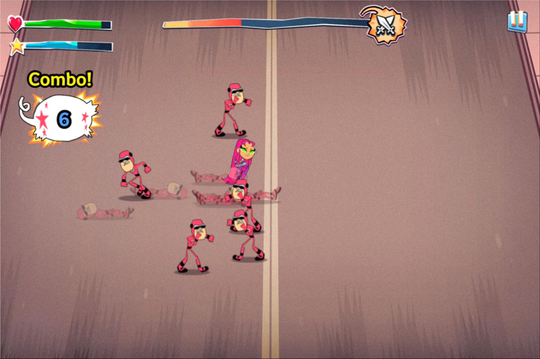 Teen Titans Go Game Screenshot.