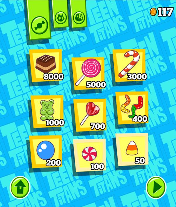 Teen Titans Go Smashy Pinata Candy Store Screenshot.