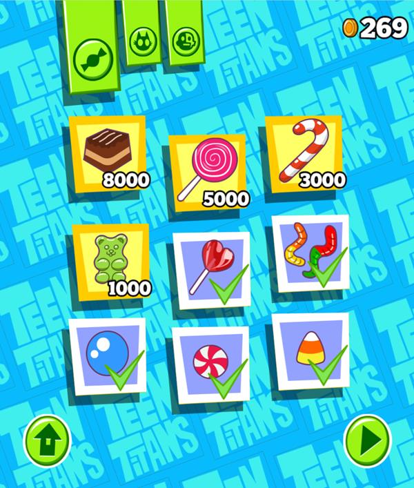 Teen Titans Go Smashy Pinata Purchased Candy Screenshot.
