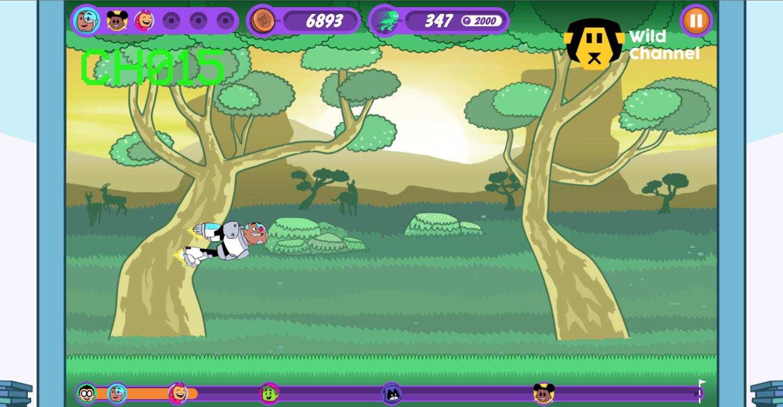 Teen Titans Go Zapping Run Wild Channel Screenshot.