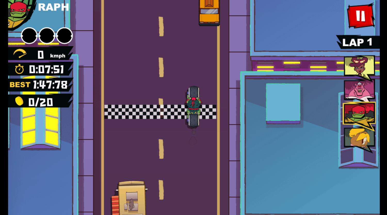 Teenage Mutant Ninja Turtles Road Riot Course New York City Screenshot.