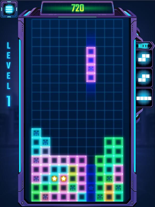 Tetra Blocks Game Screenshot.