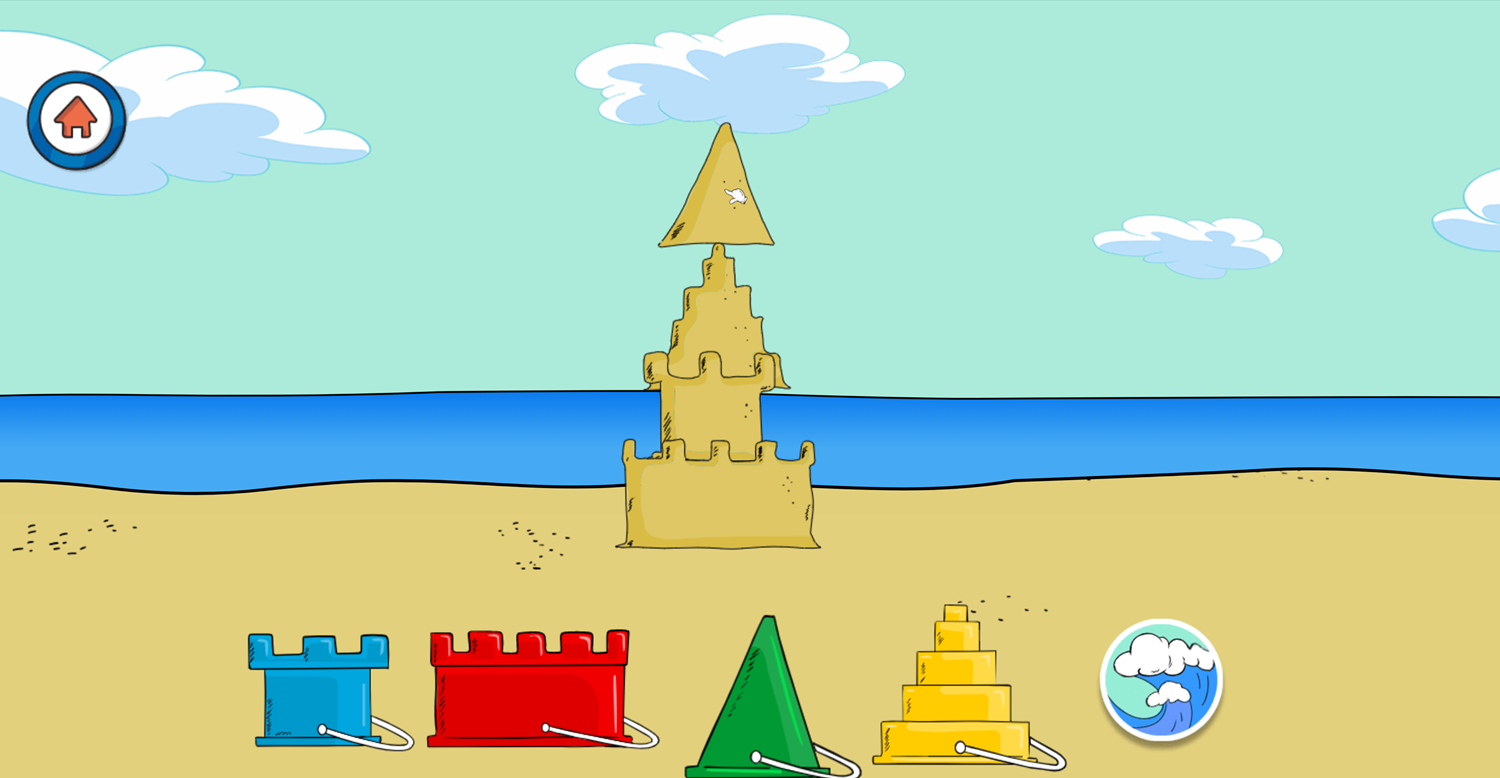 The Cat in the Hat Spinna Ma Jigger Sand Castle Building Game Screenshot.