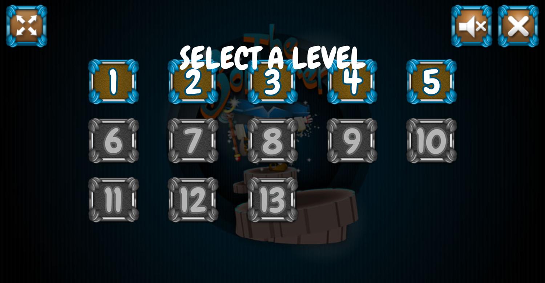 The Sorcerer Level Select Screenshot.