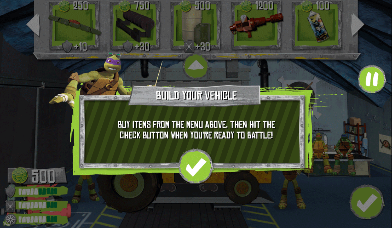 TMNT Build N Battle Build Vehicle Screenshot.