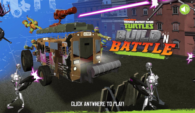 TMNT Build N Battle Welcome Screen Screenshot.