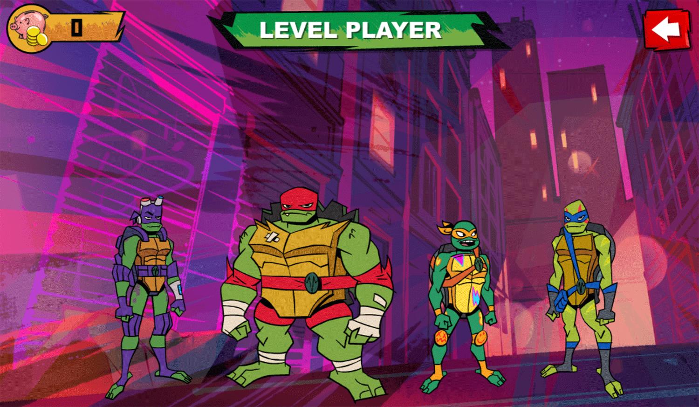 TMNT Bumper Bros Character Select Screenshot.