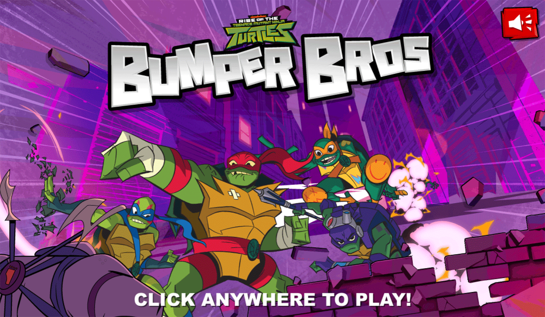 TMNT Bumper Bros Welcome Screen Screenshot.