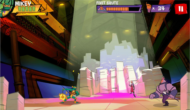 TMNT Epic Mutant Missions Game Screenshot.