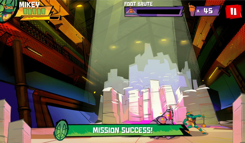 TMNT Epic Mutant Missions Mission Success Screenshot.