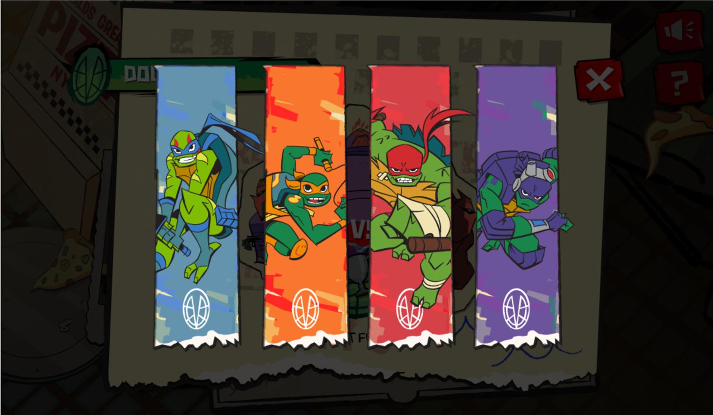 TMNT Epic Mutant Missions Turtle Select Screenshot.