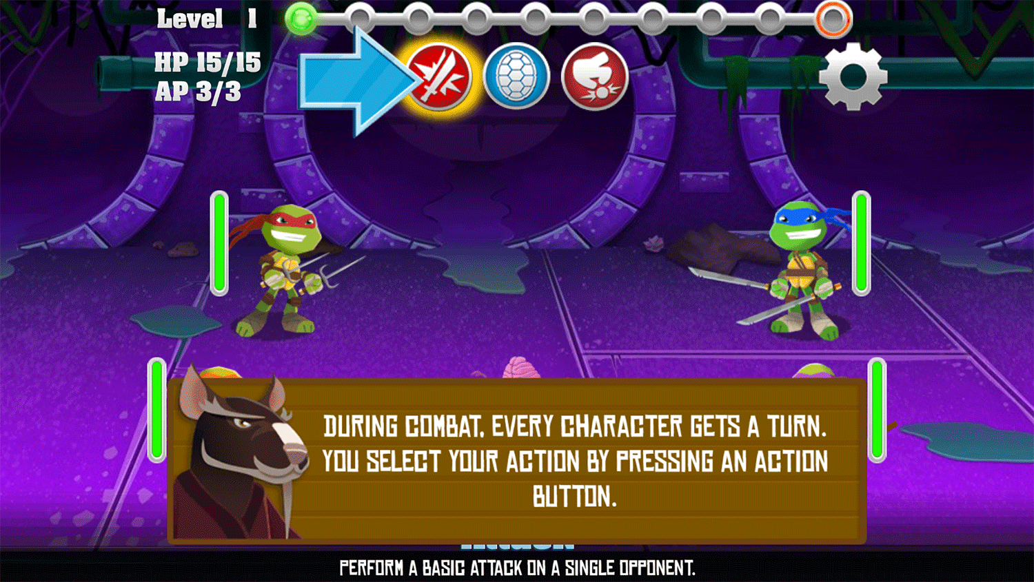 TMNT Pizza Quest How To Play Screenshot.