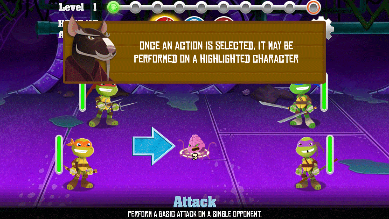 TMNT Pizza Quest Instructions Screenshot.
