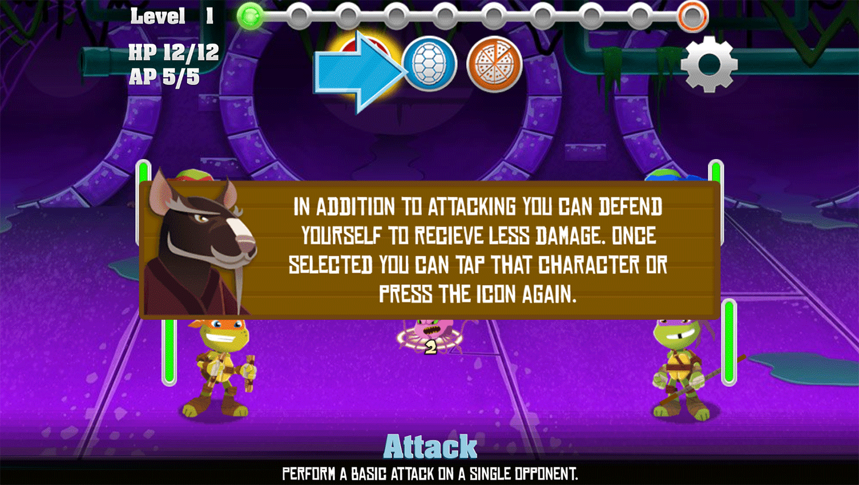 TMNT Pizza Quest Play Tips Screenshot.