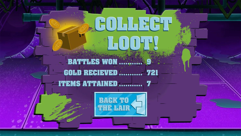 TMNT Pizza Quest Result Screenshot.