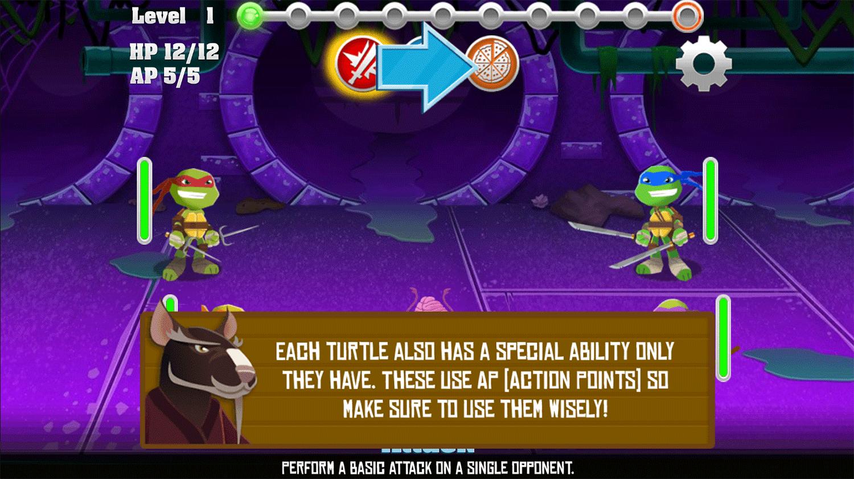 TMNT Pizza Quest Special Attack Screenshot.