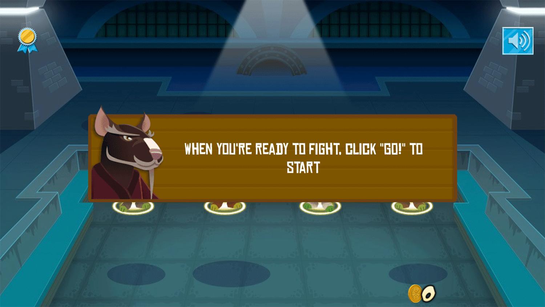 TMNT Pizza Quest Game Start Screenshot.