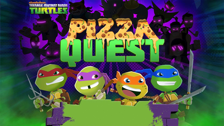 TMNT Pizza Quest Welcome Screen Screenshot.