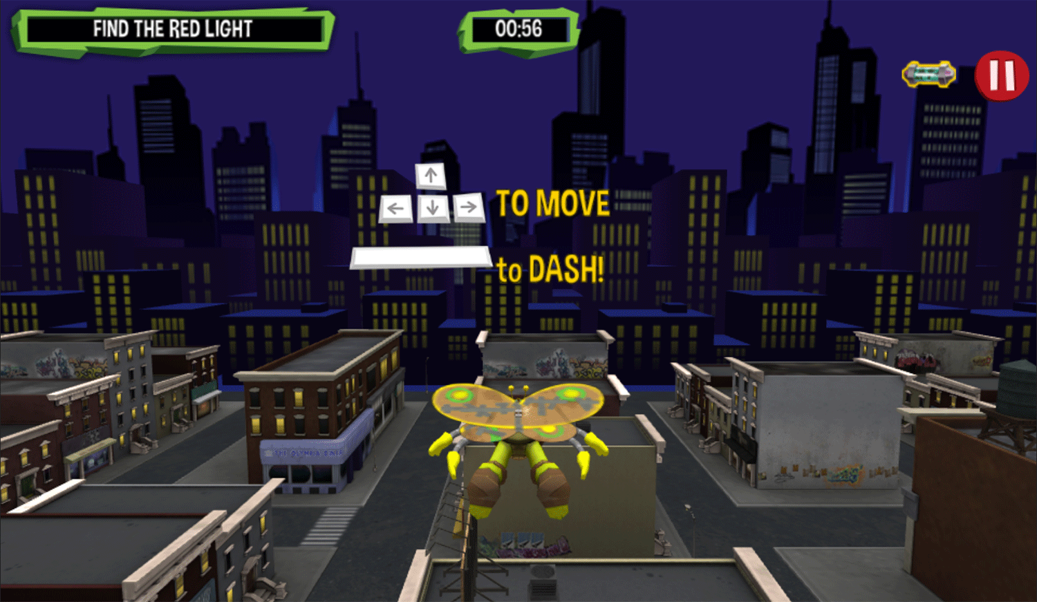 TMNT Turflytie Quest 3D Game How To Play Screenshot.