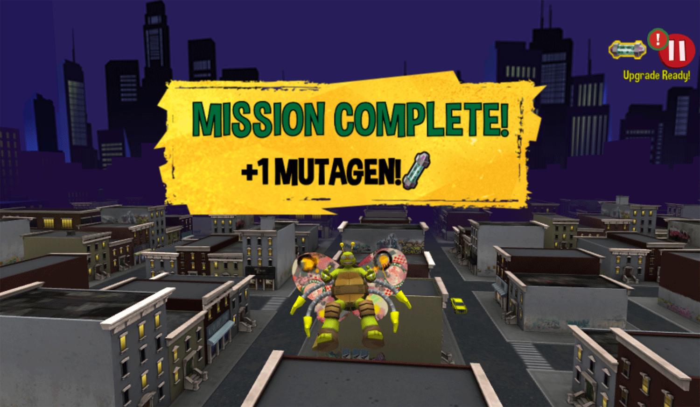 TMNT Turflytie Quest 3D Game Mission Complete Screenshot.