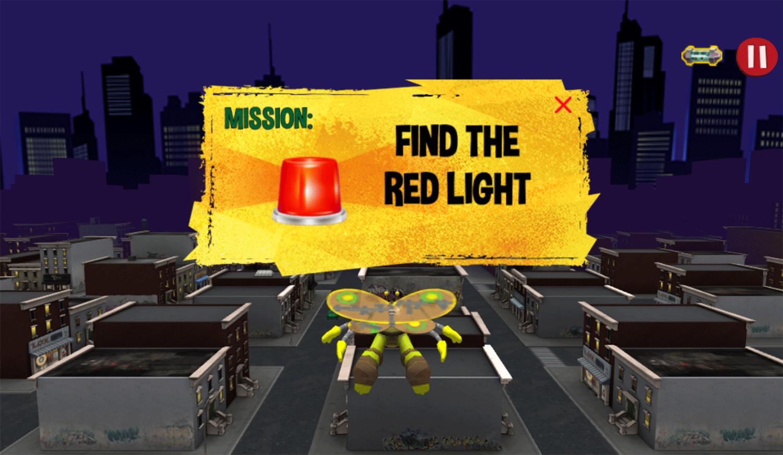TMNT Turflytie Quest 3D Game Mission Screenshot.