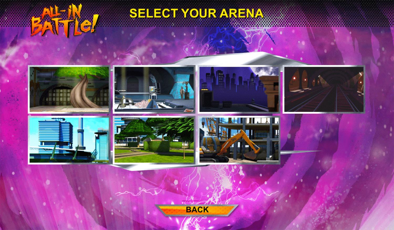 Power Rangers vs Teenage Mutant Ninja Turtles Ultimate Hero Clash 2 Arena Select Screenshot.