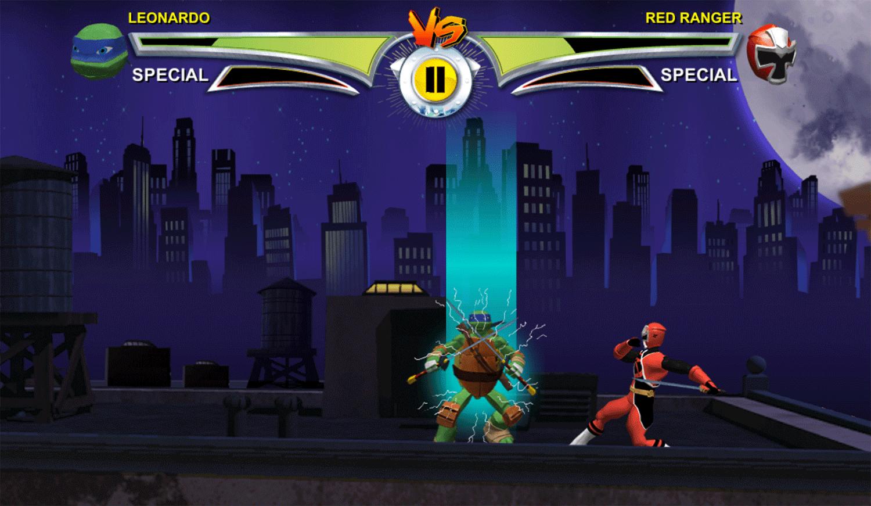 Power Rangers vs Teenage Mutant Ninja Turtles Ultimate Hero Clash 2 Gameplay Screenshot.