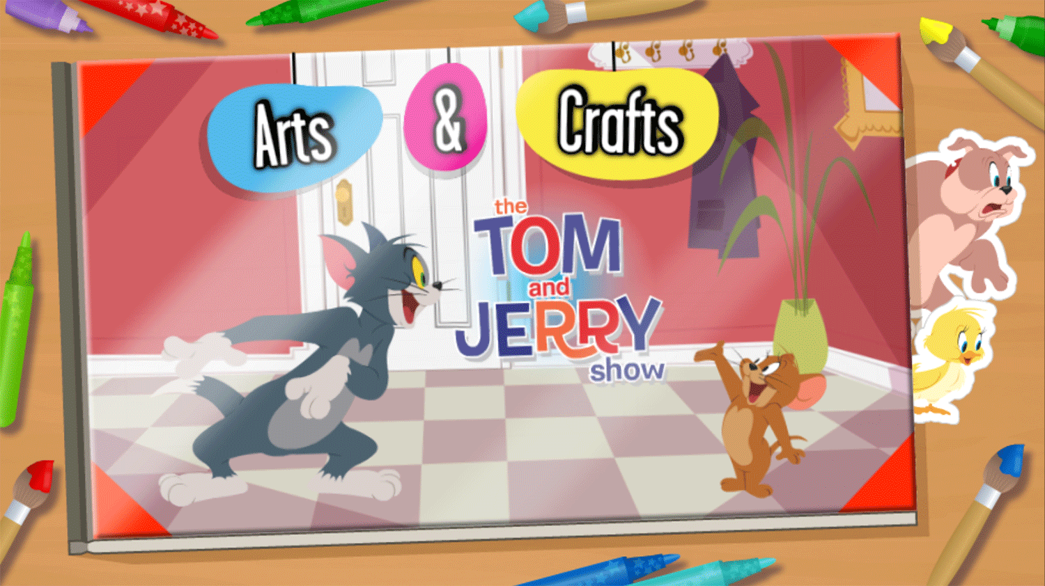 Tom and Jerry Arts and Crafts Welcome Screen Screenshots.