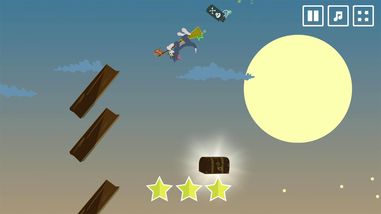 Tom and Jerry Broom Riders Game Screenshots.